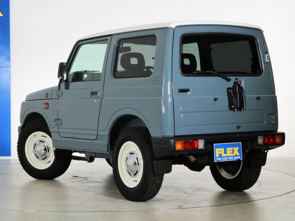背面レスですっきりした印象に! | スズキ ジムニー 660 XL 4WD オートマ DEANホイール