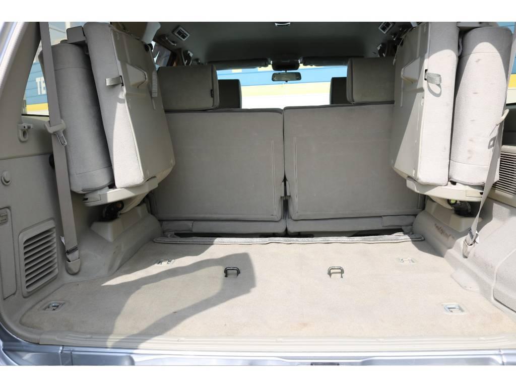 広々したラゲッジルーム!大容量でキャンプ用品なども沢山収容できます! | 日産 サファリ 4.8 グランロードリミテッド 4WD 3インチUP SDナビ 最終型
