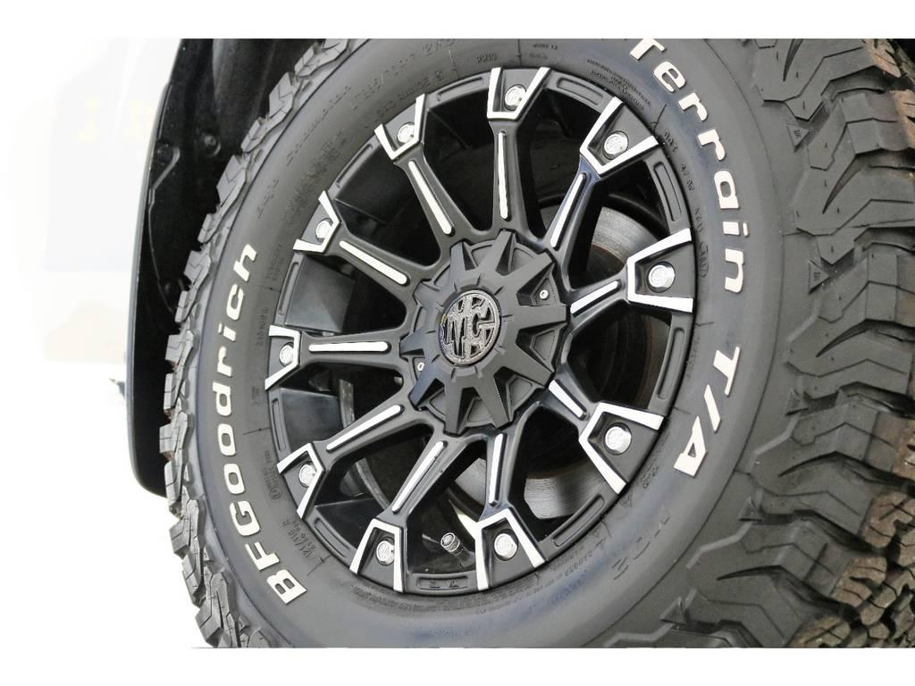 新品MG17インチホイール&新品BFグッドリッチATタイヤを装着致しました! | トヨタ ランドクルーザープラド 2.7 TX Lパッケージ 4WD 新車未登録車 11インチナビ