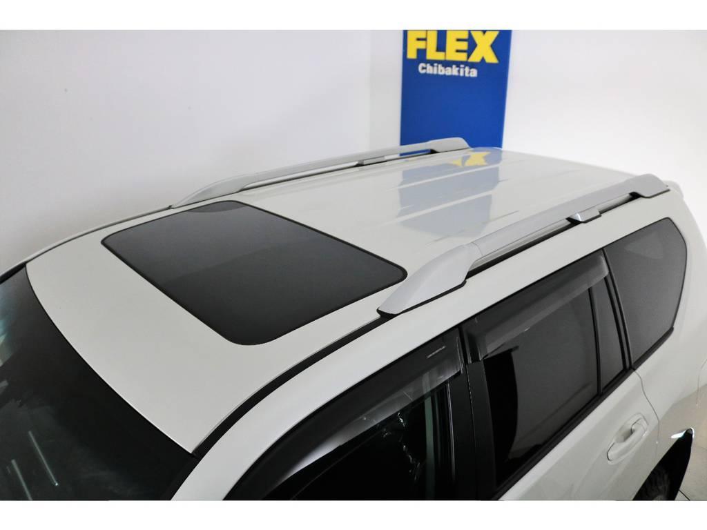 ディーラーオプションルーフレール付き! | トヨタ ランドクルーザープラド 2.7 TX Lパッケージ 4WD 新車未登録車 11インチナビ