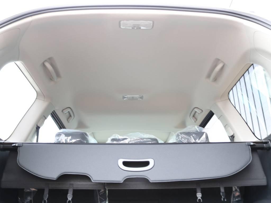 広々した天井!フリップダウンモニターの取り付け事例もございます。 | トヨタ ランドクルーザープラド 2.7 TX Lパッケージ 4WD 新車未登録車 11インチナビ