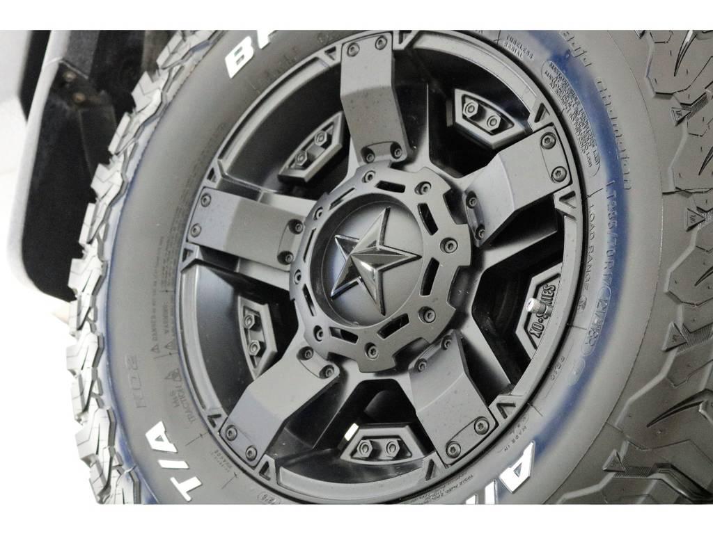 新品ロックスター17インチホイール&新品BFグッドリッチATタイヤを装着致しました!