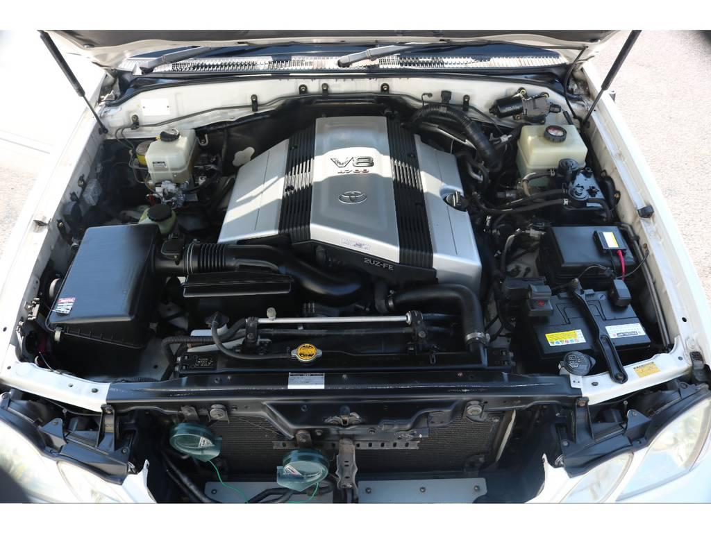 店舗敷地内に工場完備ですので車検から整備までお任せください。 | トヨタ ランドクルーザーシグナス 4.7 4WD 最終型 ガナドールマフラー