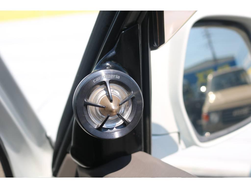 高音を綺麗に楽しむツイーター付きです☆ | トヨタ ランドクルーザーシグナス 4.7 4WD 最終型 ガナドールマフラー