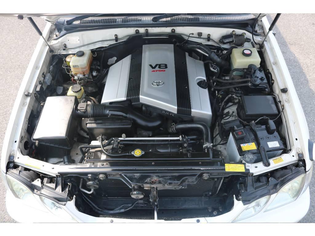 4700ccのパワフルエンジンを搭載☆耐久性に優れスムーズな加速が魅力です☆