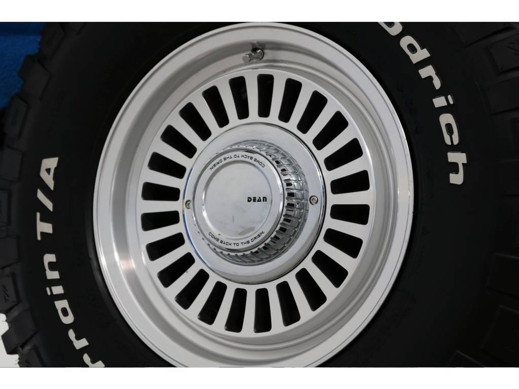 新品DEANカルフォルニア16インチホイール&新品BFグッドリッチMTタイヤを装着致しました! | トヨタ ランドクルーザー80 4.5 VX 4WD 86 丸目 コンプリートモデル