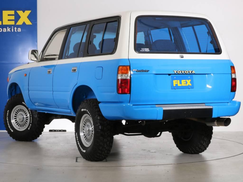 後部にトヨタエンブレムを取付しました!よりクラシックに! | トヨタ ランドクルーザー80 4.5 VX 4WD 86 丸目 コンプリートモデル