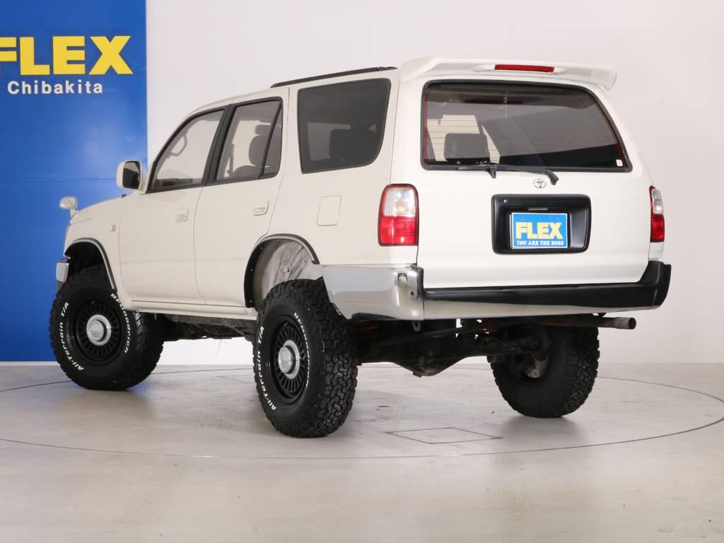 2インチUPにDEANカルフォルニアホイールでおしゃれにカスタムされております!   トヨタ ハイラックスサーフ 2.7 SSR-X ワイドボディ 4WD ニューペイント ペッパーホワイト