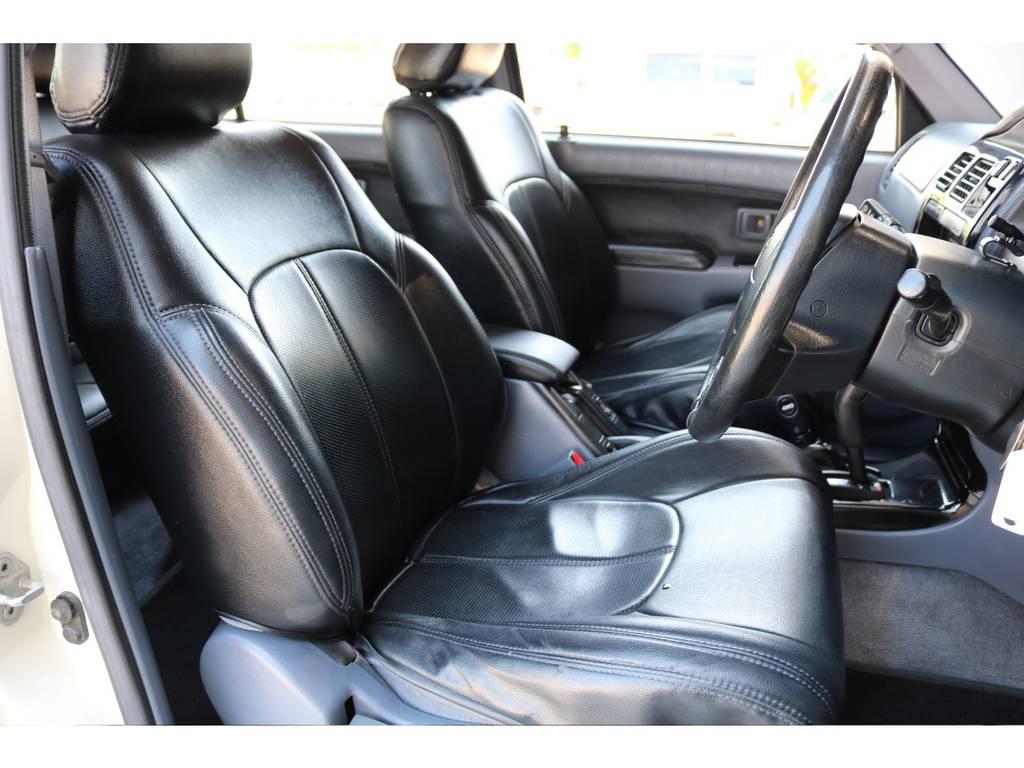 柔らかめなファブリックシート!座り心地もグッド!シートカバーも装着済み! | トヨタ ハイラックスサーフ 2.7 SSR-X ワイドボディ 4WD ニューペイント ペッパーホワイト