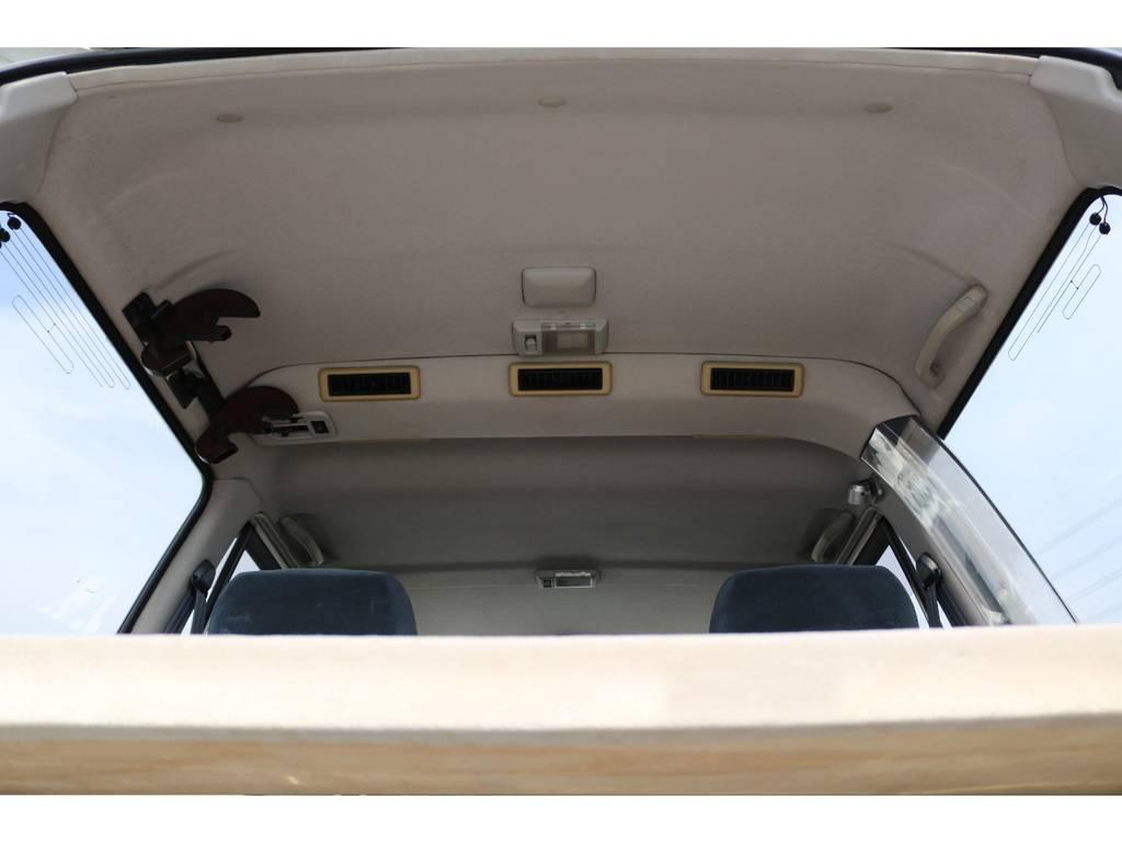 天井も破れなどもなくGOODコンディションです! | トヨタ ランドクルーザー80 4.5 VX 4WD 5速MT OPデフロック