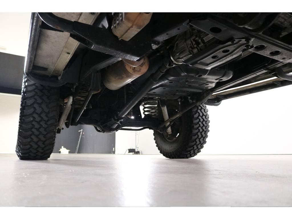 足回りもきっちり組んでありますので安心の一台です! | トヨタ ランドクルーザー80 4.5 VX 4WD 5速MT OPデフロック