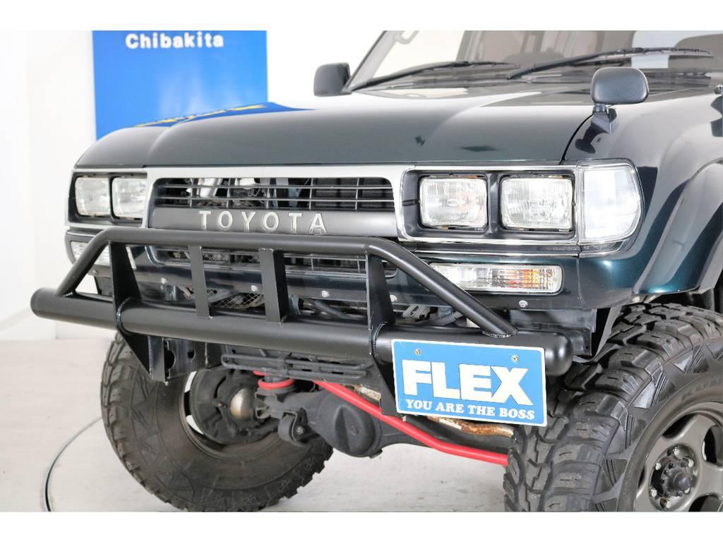 角目4灯ヘッドライト交換済み!   トヨタ ランドクルーザー80 4.5 VXリミテッド 4WD 5インチUP クロカン仕様