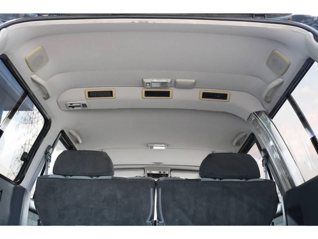 広々した天井!大きなキズやへたりも無く天張りもグッドコンディション!   トヨタ ランドクルーザー80 4.5 VXリミテッド 4WD 5インチUP クロカン仕様