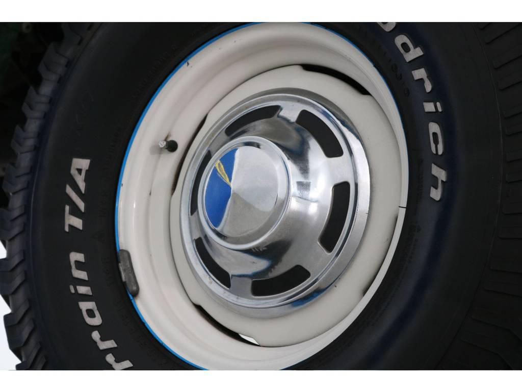 鉄ホイールを白に塗装済み!ボディ色に合っています! | トヨタ ランドクルーザー60 4.0 VX ロールーフ角目 4WD ロールーフ オートマ SDナビ
