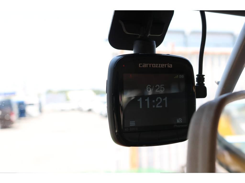 付いていると安心なドライブレコーダーも装着済み! | トヨタ ランドクルーザー60 4.0 VX ロールーフ角目 4WD ロールーフ オートマ SDナビ