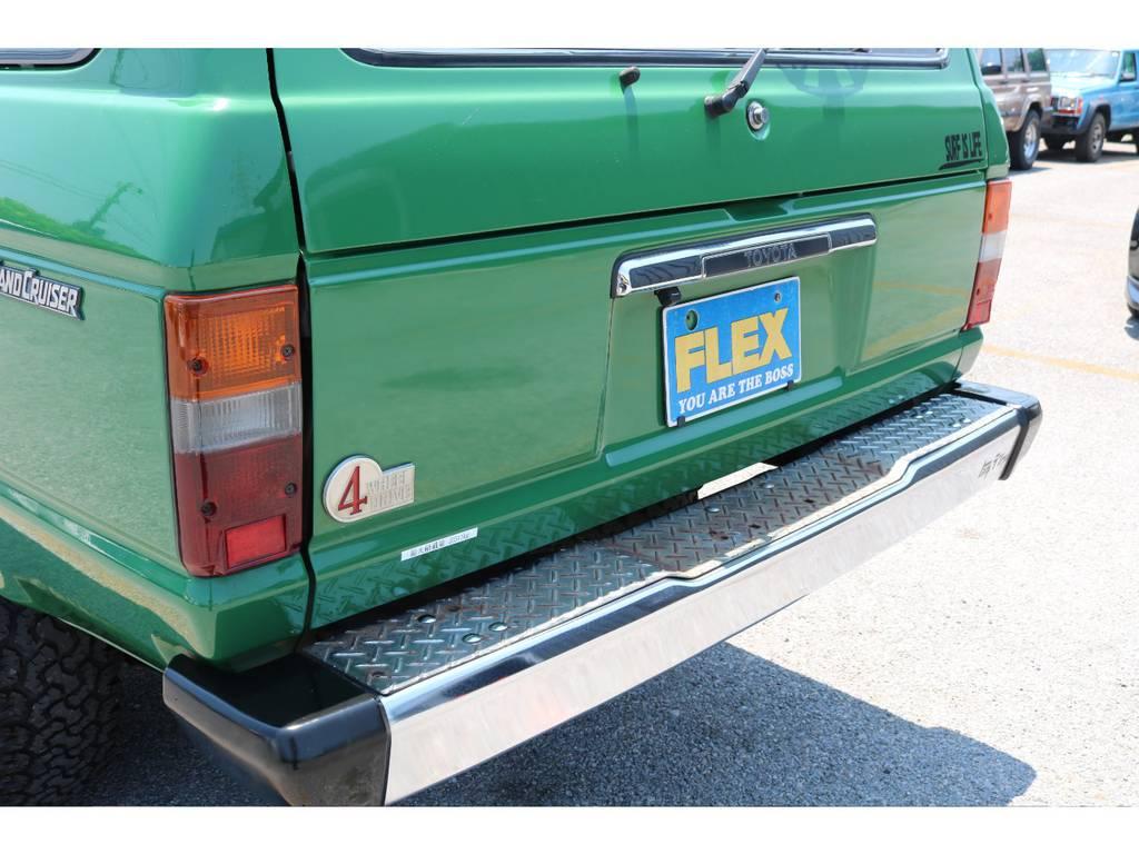リアバンパーの状態も良好です!大きな錆などは見受けられません! | トヨタ ランドクルーザー60 4.0 VX ロールーフ角目 4WD ロールーフ オートマ SDナビ
