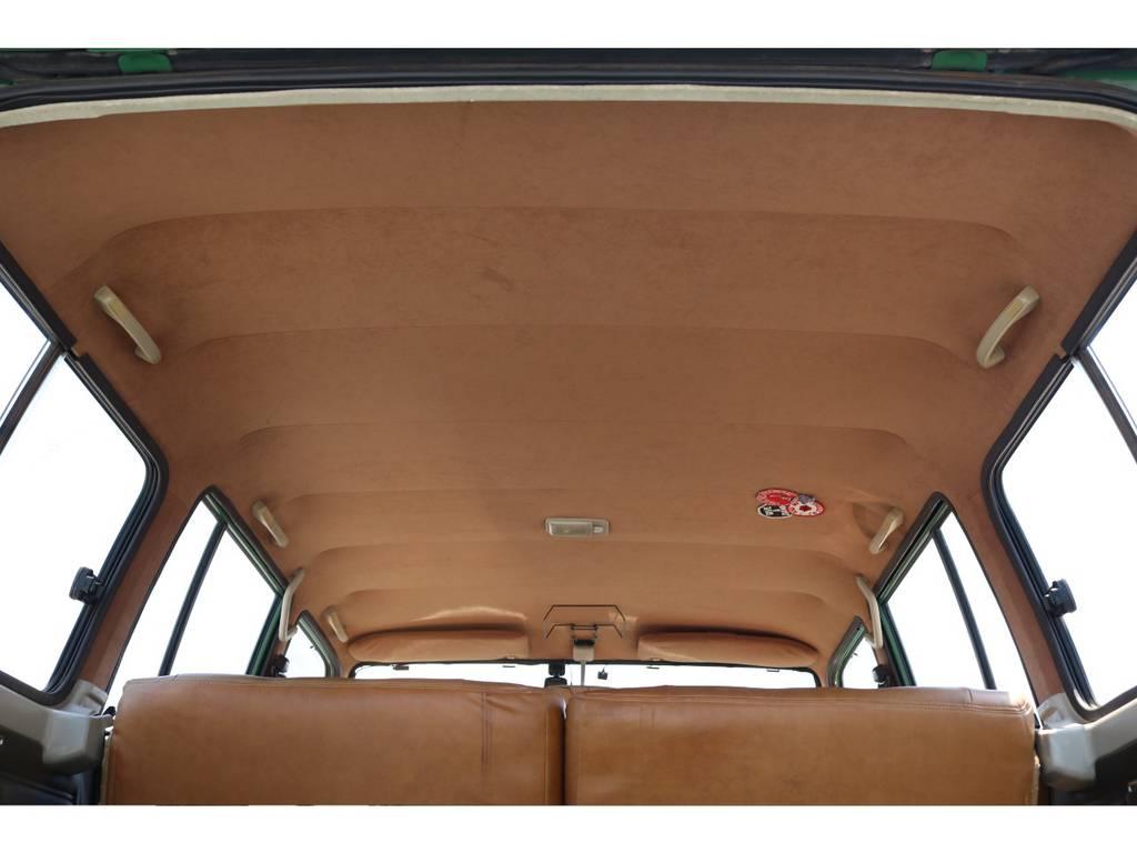 天張りも張替え済み!内装に合わせてキャメルに変えてます! | トヨタ ランドクルーザー60 4.0 VX ロールーフ角目 4WD ロールーフ オートマ SDナビ