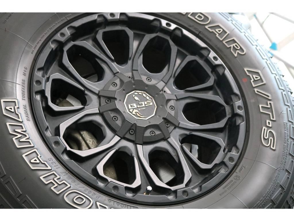WORK17インチアルミホイールにジオランダーAT装着済み! | トヨタ FJクルーザー 4.0 4WD SDナビ バックカメラ