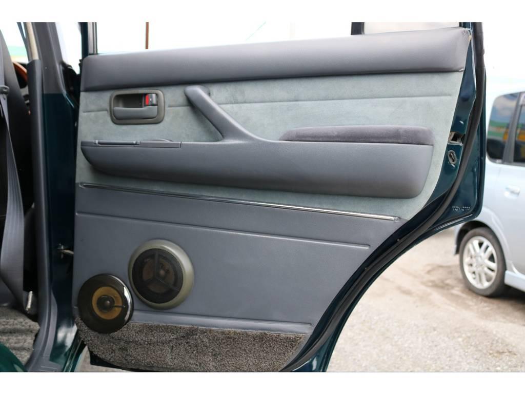 ドアパネルにも大きなキズや破れも無くグッドコンディション! | トヨタ ランドクルーザー80 4.5 VXリミテッド 4WD 『86』60フェイスチェンジ