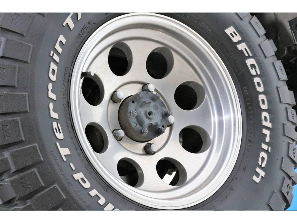 ミッキートンプソンAWにBFグッドリッチMTを装着! | トヨタ ランドクルーザー70 4.2 ZX FRPトップ ディーゼル 4WD NOX・PM法適合車 2インチUP