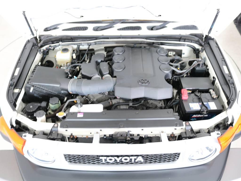 店舗敷地内に工場完備ですので車検から整備までお任せください。 | トヨタ FJクルーザー 4.0 4WD 新品20インチAW SDナビ