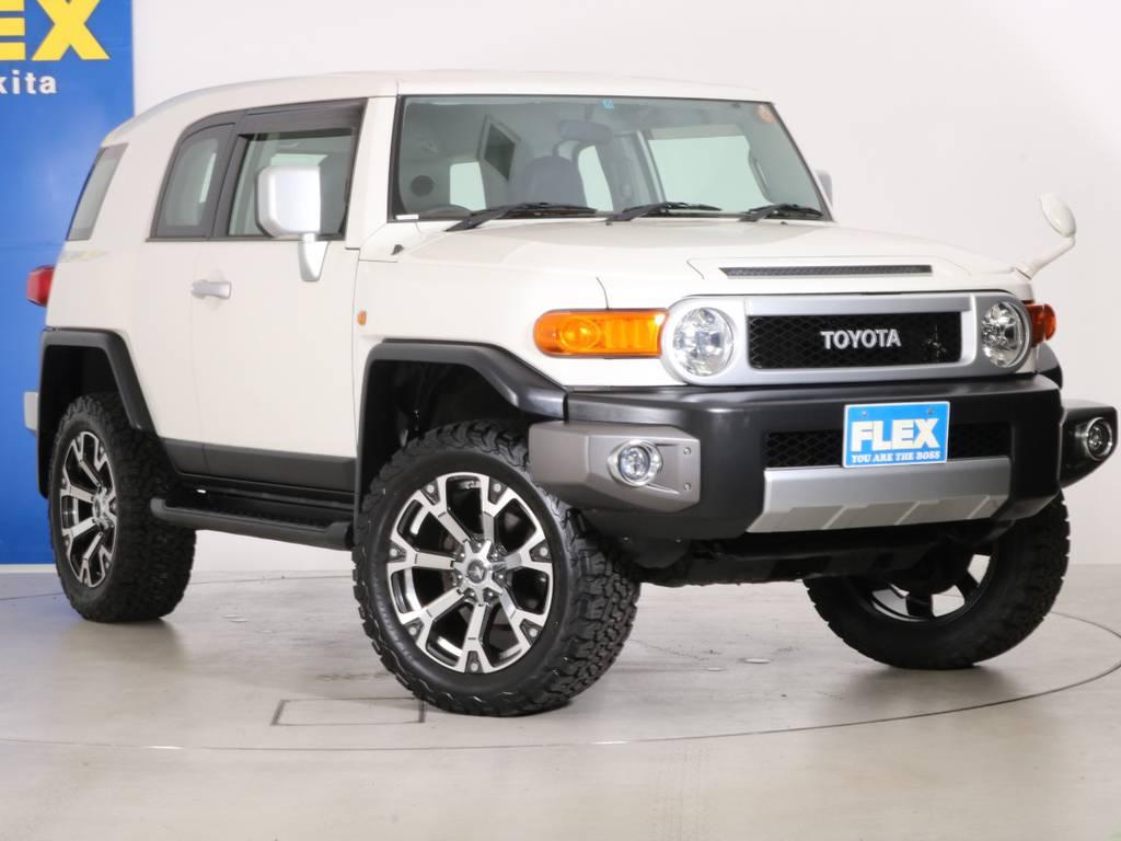 各種任意保険、オートローンも扱っておりますのでお気軽にご相談ください。 | トヨタ FJクルーザー 4.0 4WD 新品20インチAW SDナビ