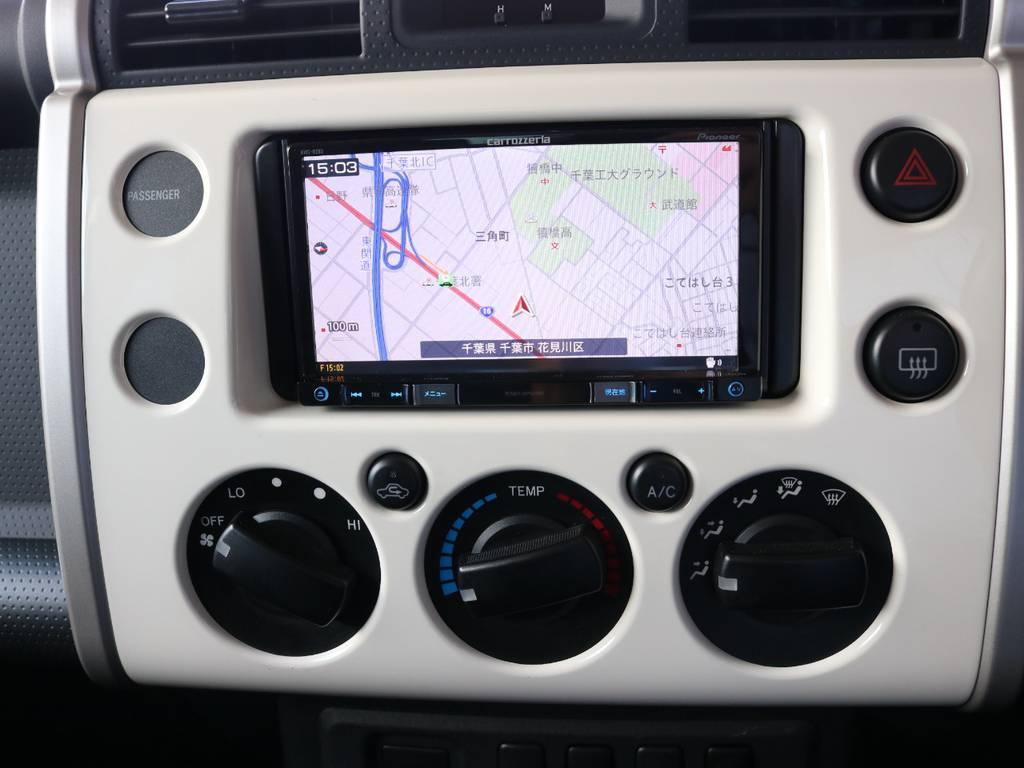 カロッツェリアSDナビも装着済み! | トヨタ FJクルーザー 4.0 4WD 4インチUP SDナビ