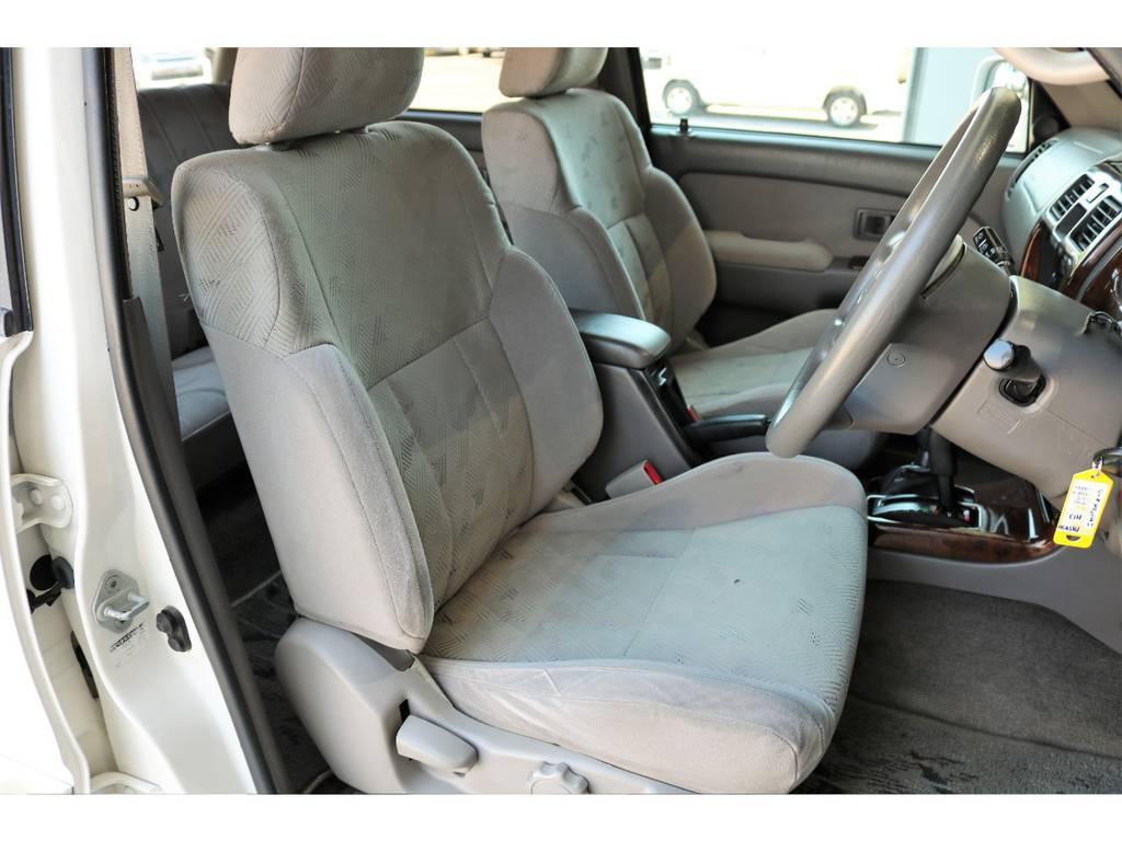 柔らかめなファブリックシート!座り心地もグッド!シートカバーも多種取り扱いございますのでご相談ください。 | トヨタ ハイラックスサーフ 2.7 SSR-X 4WD LEDテール