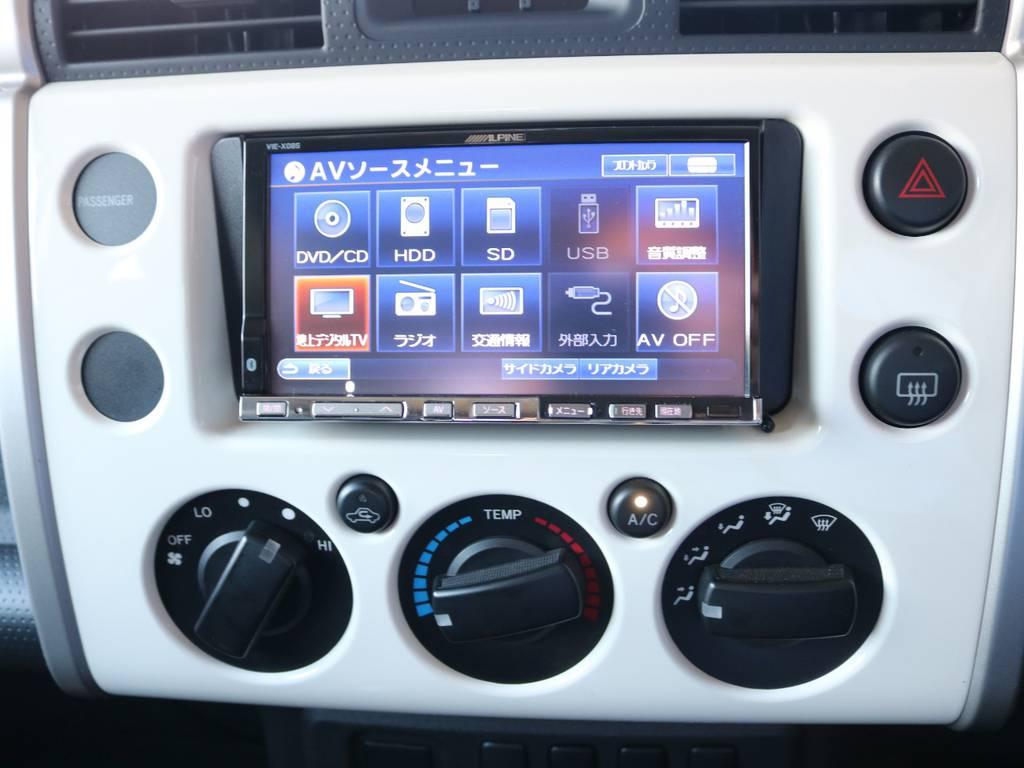 アルパイン7インチナビも装着済み! | トヨタ FJクルーザー 4.0 4WD 2インチUP 4本出しマフラー