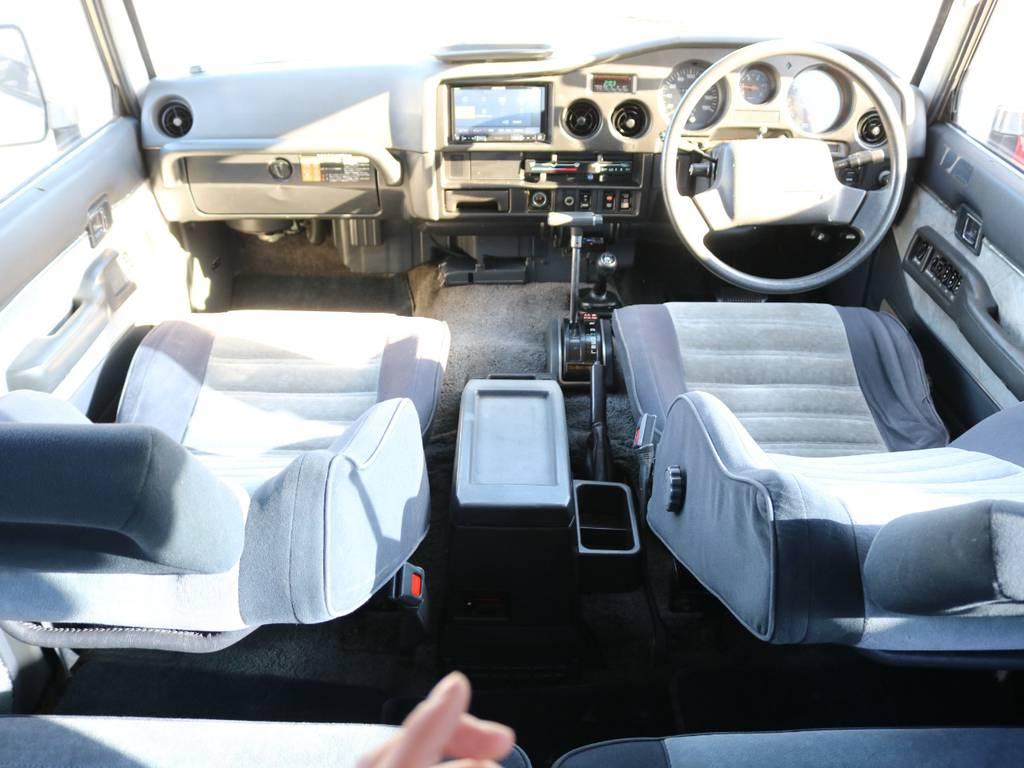 セカンドシートもグッドコンディション! | トヨタ ランドクルーザー60 4.0 VX ハイルーフ 4WD ロールーフ 丸目 カルフォルニアAW