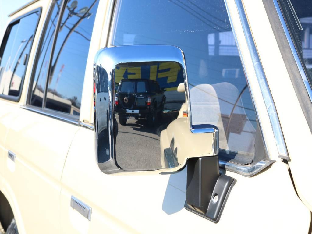 ドアミラーメッキ新品装着! | トヨタ ランドクルーザー60 4.0 VX ハイルーフ 4WD ロールーフ 丸目 カルフォルニアAW