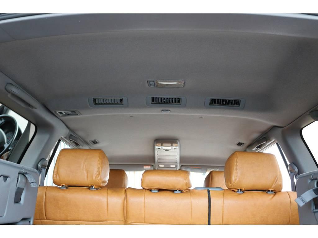 天張りも綺麗に保たれております☆ | トヨタ ランドクルーザー100 4.7 VXリミテッド 4WD Renoca106 フルセグナビ