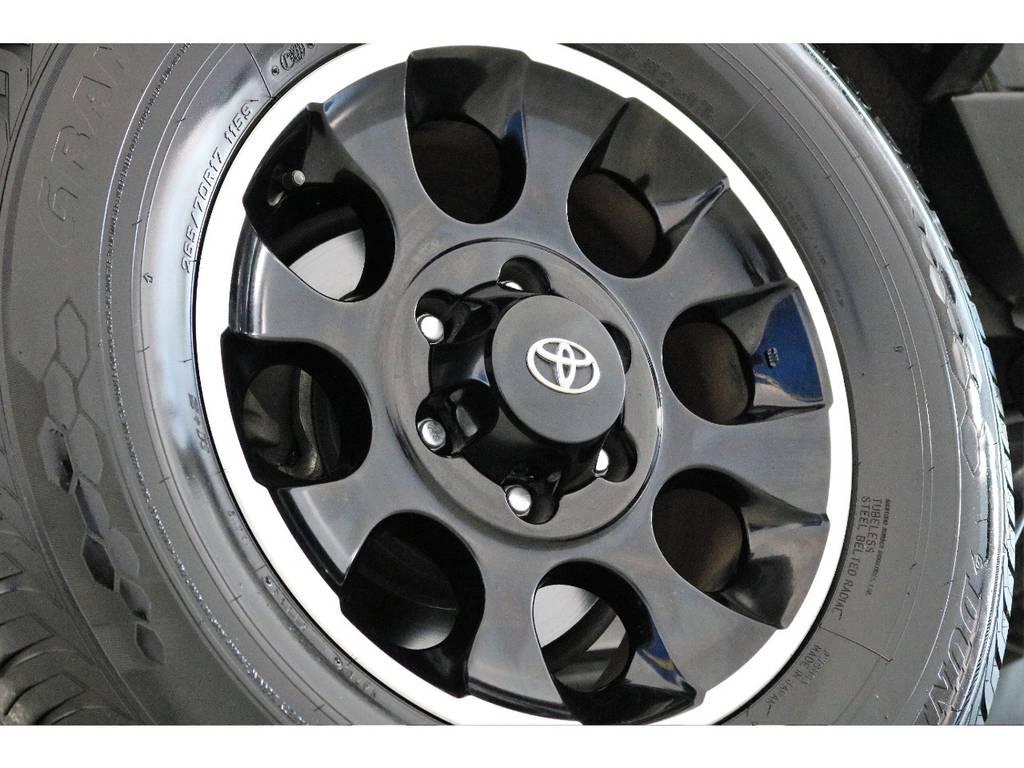 ブラックカラーパッケージ専用ホイール装着済み! | トヨタ FJクルーザー 4.0 ブラックカラーパッケージ 4WD SDナビ 純正ルーフラック