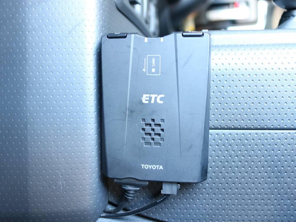 必需品のETCも装着済み! | トヨタ FJクルーザー 4.0 ブラックカラーパッケージ 4WD SDナビ 純正ルーフラック