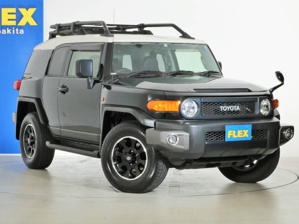 各種任意保険、オートローンも扱っておりますのでお気軽にご相談ください。 | トヨタ FJクルーザー 4.0 ブラックカラーパッケージ 4WD SDナビ 純正ルーフラック