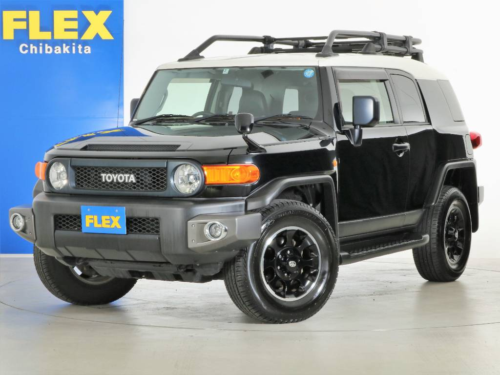 生産終了FJクルーザー ブラックカラーパッケージの入庫です! | トヨタ FJクルーザー 4.0 ブラックカラーパッケージ 4WD SDナビ 純正ルーフラック