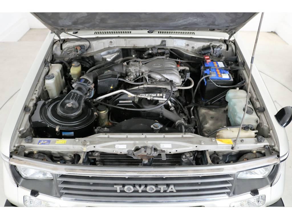 95プラド用3.4Lエンジンに載せ替えてあります☆もちろん全国登録可能です☆