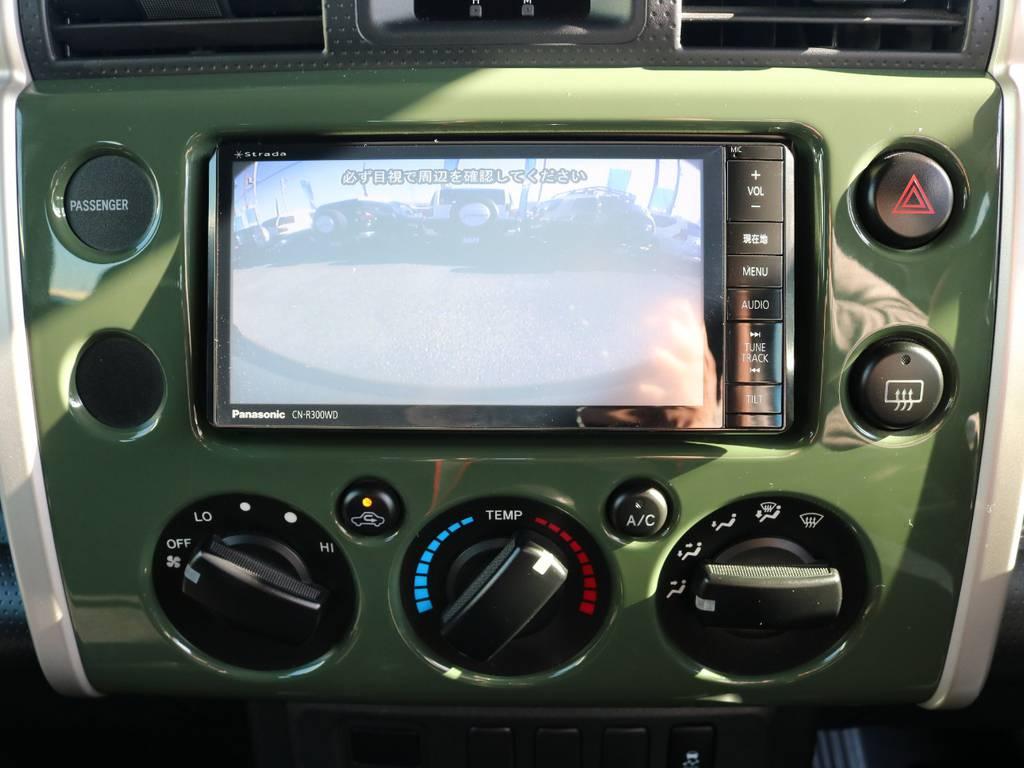 バックカメラも装着済みで安全後方視界! | トヨタ FJクルーザー 4.0 カラーパッケージ 4WD SDナビ バックカメラ