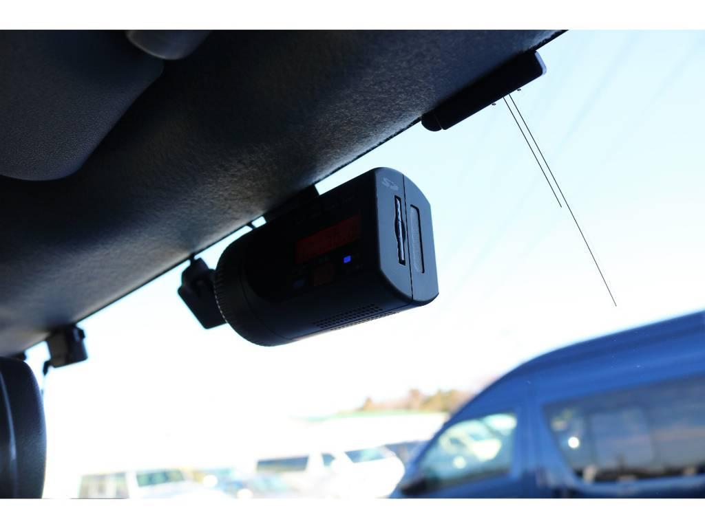 ドライブレコーダーも装着済みで安心ですね! | トヨタ FJクルーザー 4.0 カラーパッケージ 4WD 2インチUP HDDナビ バックカメラ