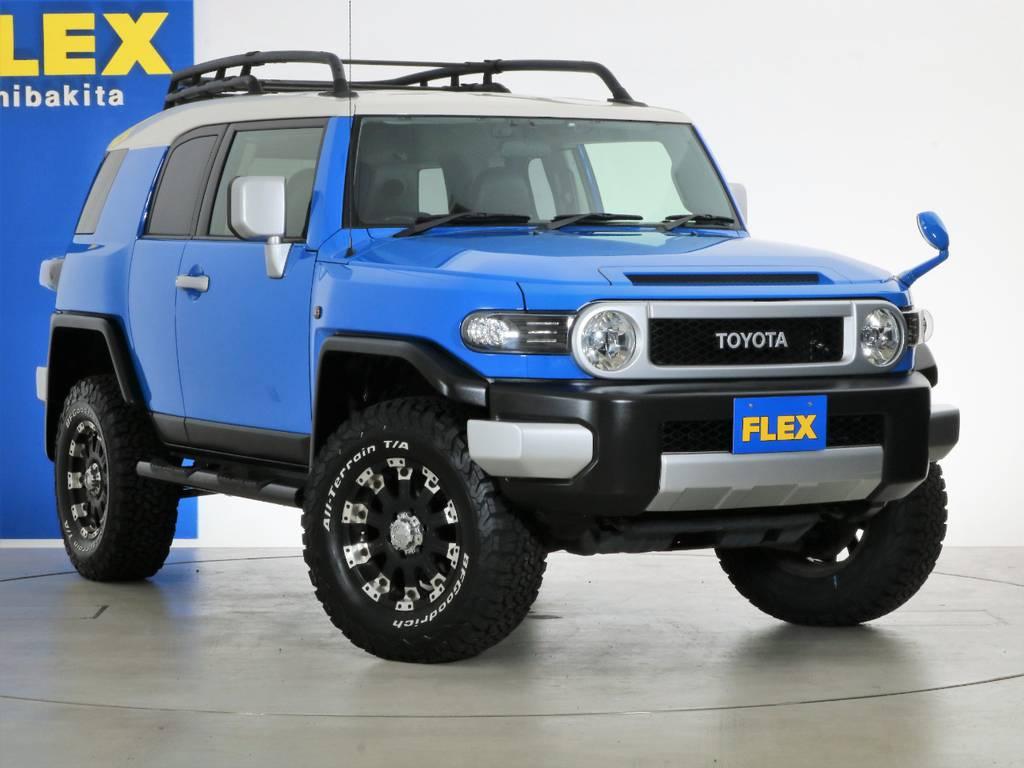 各種任意保険、オートローンも扱っておりますのでお気軽にご相談ください。 | トヨタ FJクルーザー 4.0 カラーパッケージ 4WD 2インチUP HDDナビ バックカメラ