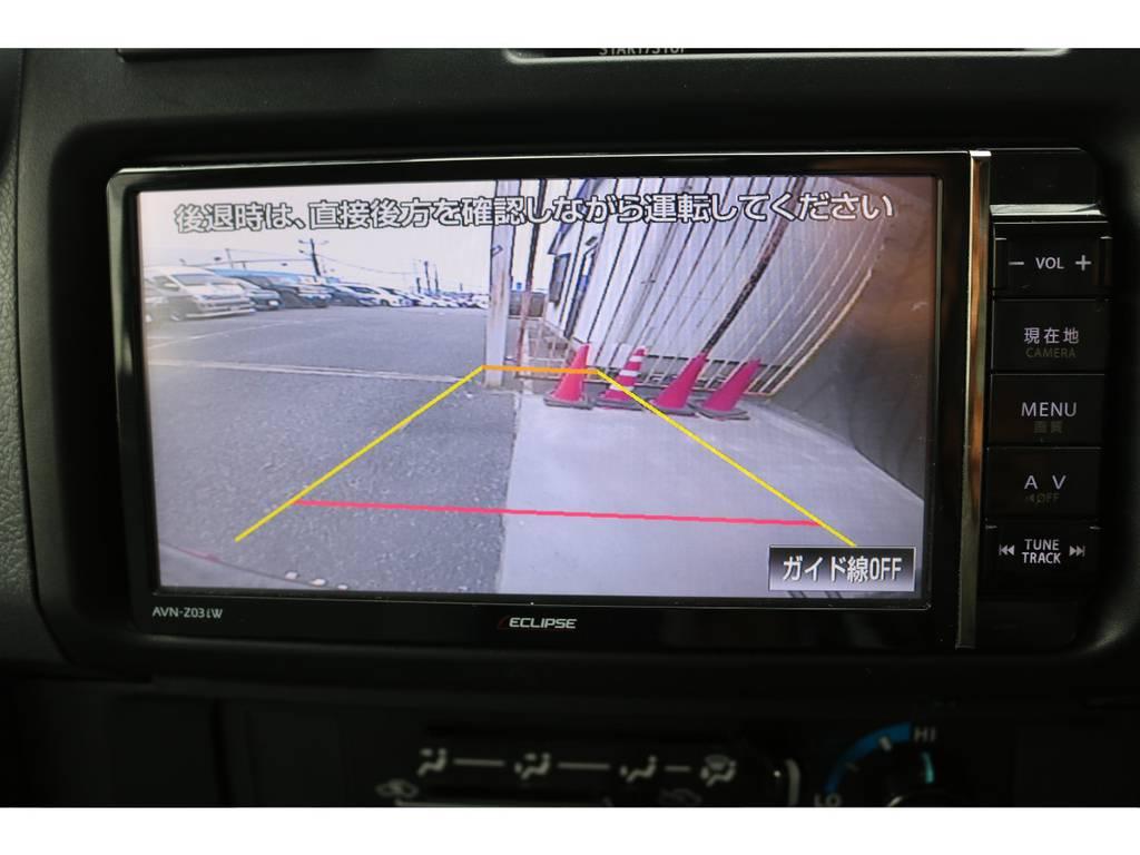 バックカメラも大画面で安全視界! | トヨタ ランドクルーザー70 4.0 4WD オプションデフロック SDナビ