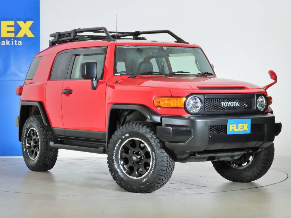 各種任意保険、オートローンも扱っておりますのでお気軽にご相談ください。 | トヨタ FJクルーザー 4.0 レッドカラーパッケージ 4WD 2インチUP SDナビ