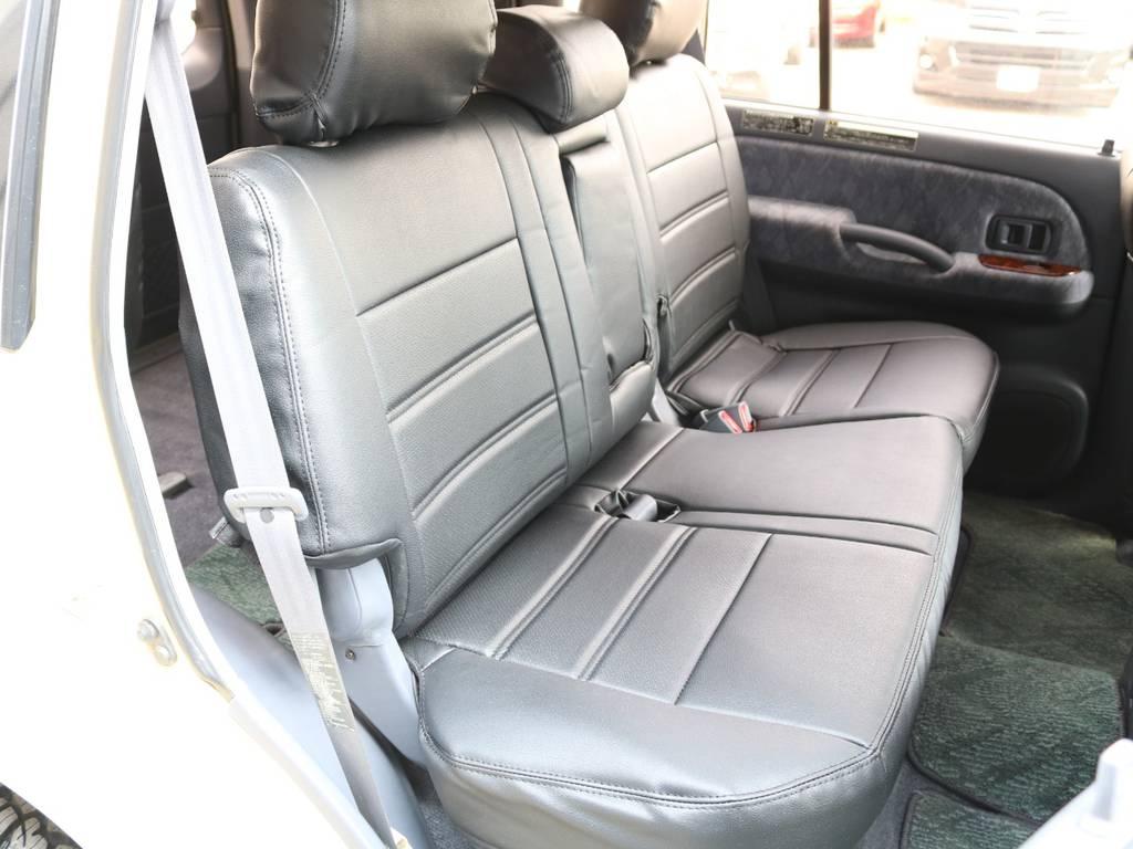 後部座席は2分割されるので使い勝手が良いです☆ | トヨタ ランドクルーザープラド 2.7 TX リミテッド 4WD ナロー仕様 SDナビ ETC Bカメラ