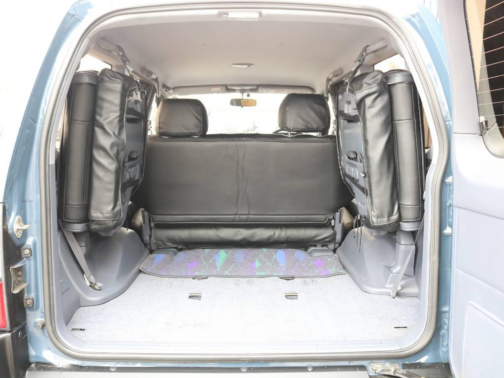 荷室は広々でキャンプ、アウトドアには重宝致します☆ | トヨタ ランドクルーザープラド 2.7 TX 4WD ナロー仕様 SDナビ ETC Bカメラ