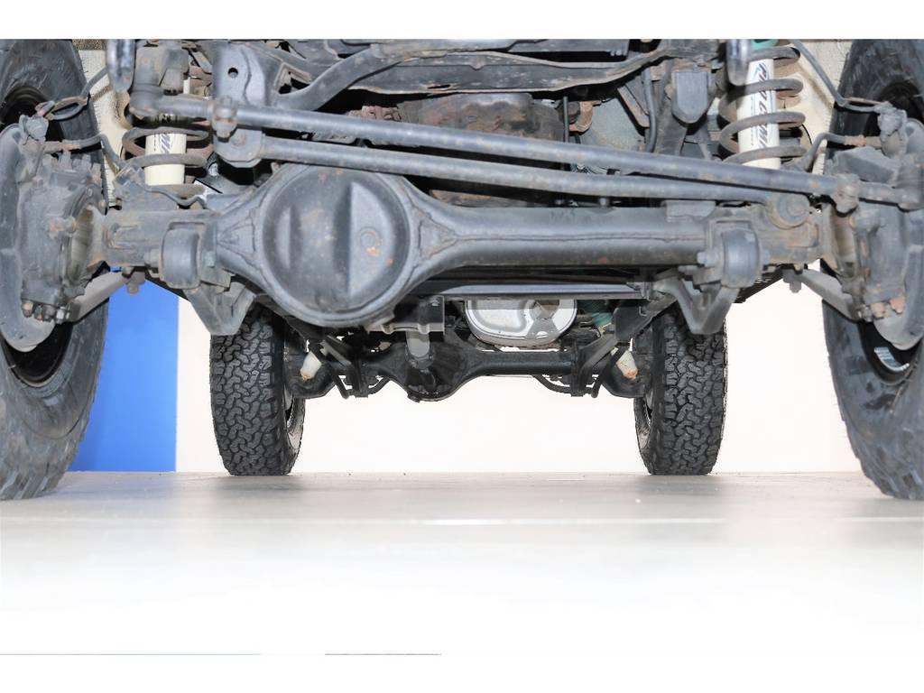 下回りは防錆塗装も承ります☆ | トヨタ ランドクルーザープラド 3.0 SXワイド ディーゼルターボ 4WD NOX・PM法適合車 SDナビ