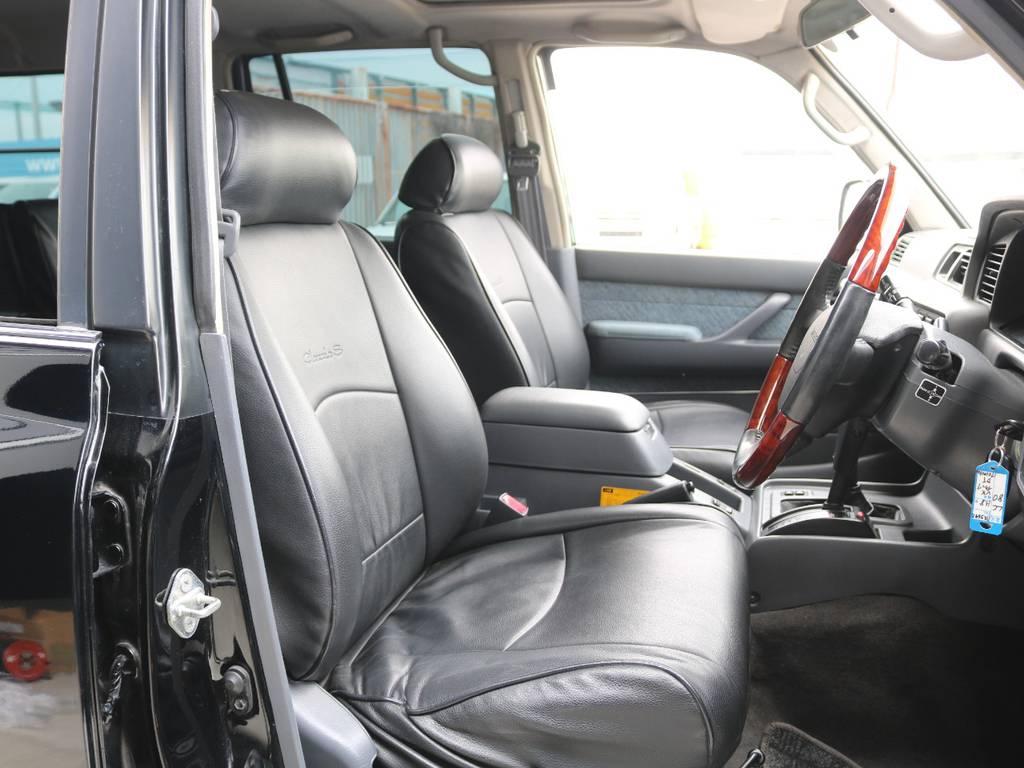 運転席は広々で快適な運転が出来ます☆ | トヨタ ランドクルーザー80 4.2 VX ディーゼルターボ 4WD 3インチUP HDDナビ バックカメラ