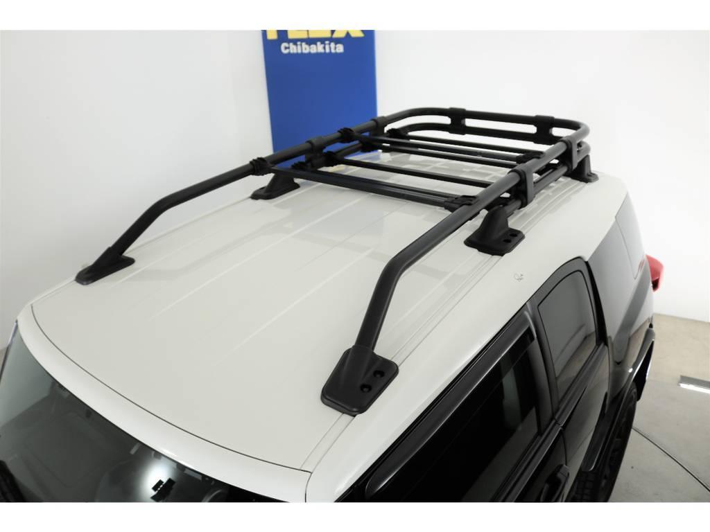 純正オプションルーフラック☆ | トヨタ FJクルーザー 4.0 4WD SDナビ 純正ルーフラック