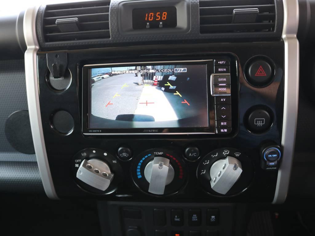 バックカメラ装着☆ | トヨタ FJクルーザー 4.0 4WD SDナビ 純正ルーフラック
