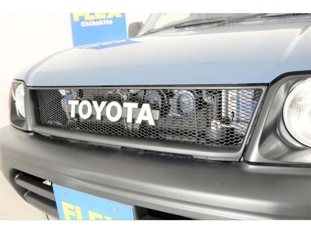 オリジナル横文字TOYOTAグリル☆   トヨタ ランドクルーザープラド 2.7 TX 4WD ナロー仕様 2インチUP