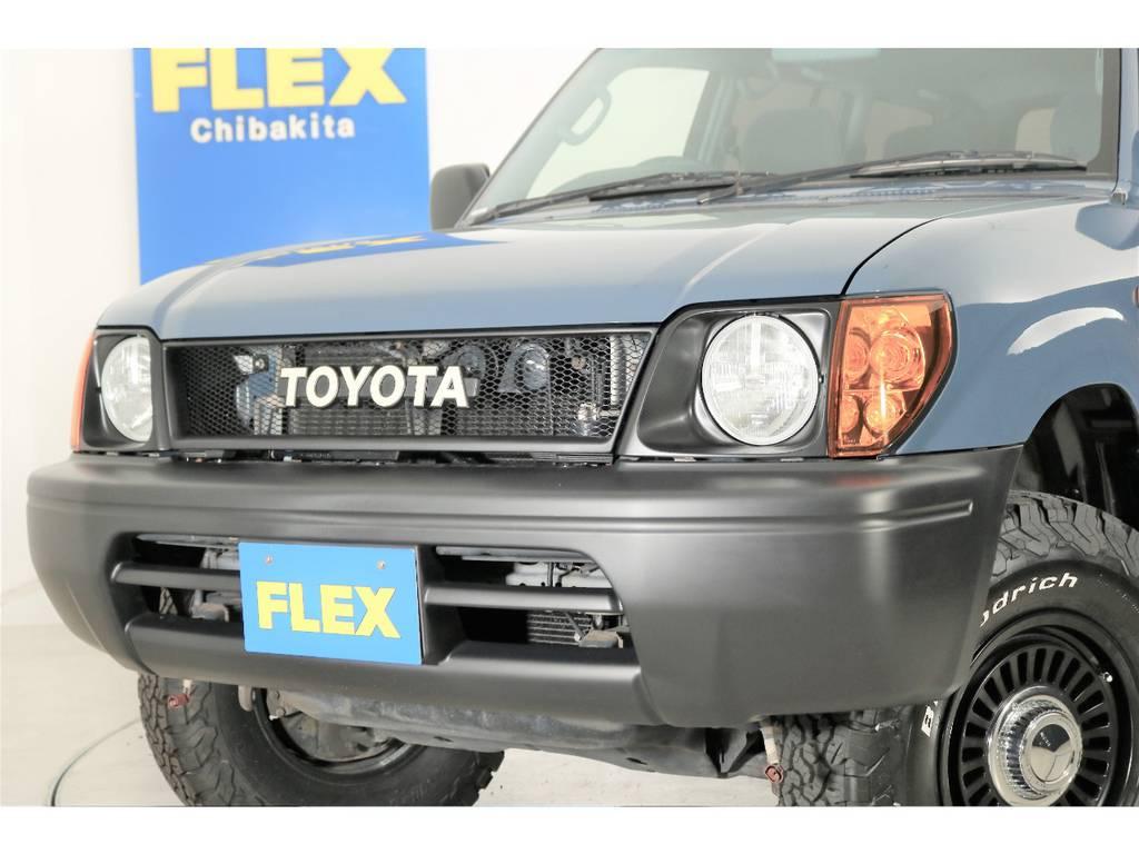 丸目フェイスでレトロな感じになりますね☆   トヨタ ランドクルーザープラド 2.7 TX 4WD ナロー仕様 2インチUP